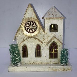 Vintage Christmas Village Church, Made in Japan